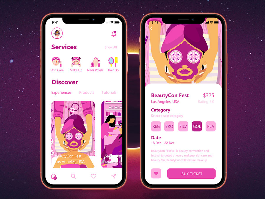 Mobile application for beauty salons